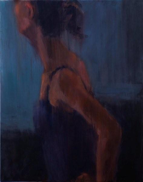 Poised,oil on canvas