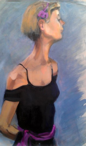 - Sold -The Young Dancer Awaits, oil on canvas, 85 cm x 60 cm