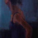 Poised,oil on canvas