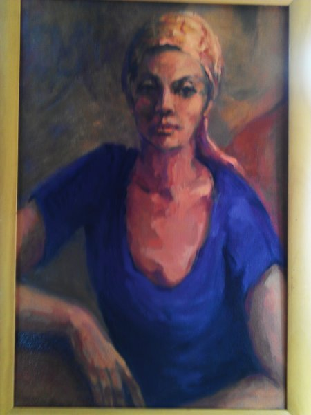 Girl with the Saffron Scarf, oil on canvas