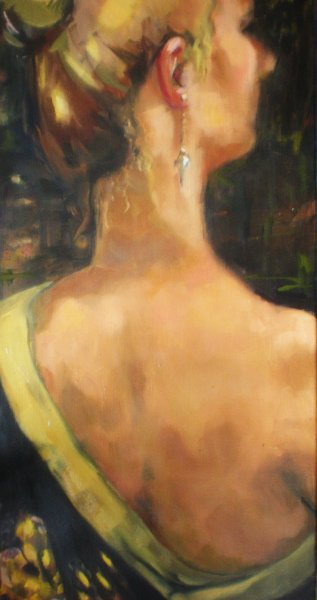 SOLD -The Silk Gown, oil on canvas