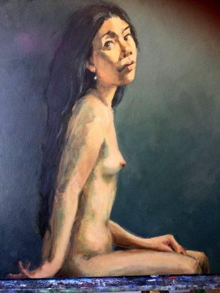 -SOLD- Josephine 1 , oil on canvas, 70cm x 85cm