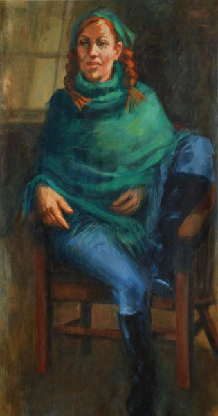 SOLD -Edwina Blush - one very talented lady!  oil on canvas