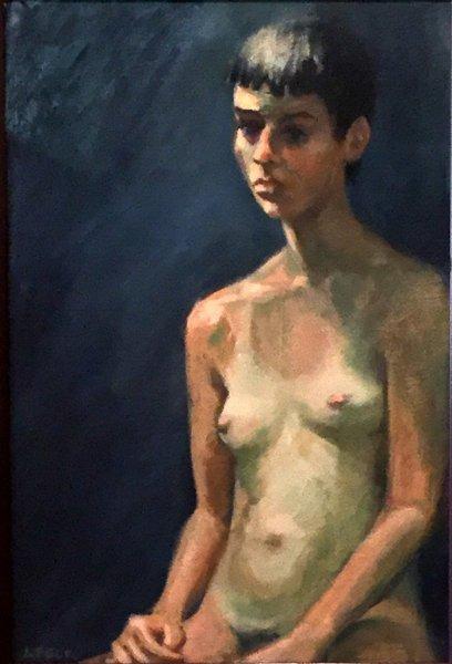 Fading Suntan, oil on canvas, 60cm x 75cm