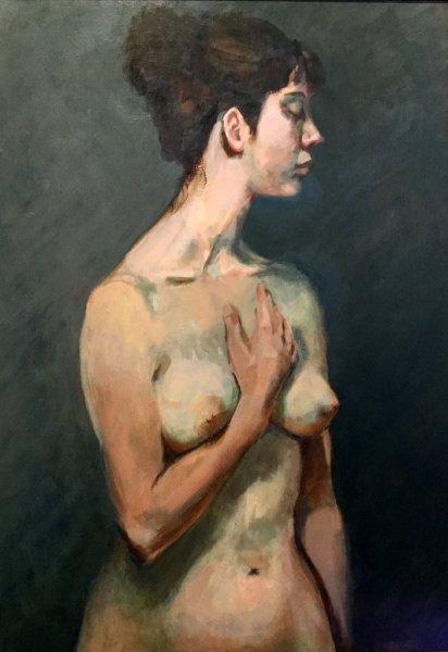 - SOLD -  Ailia, oil on canvas, 85cm x 70cm