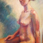 -SOLD - Seated Nude,oil on canvas