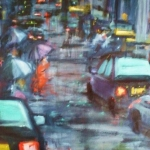 -SOLD - Wet City 11,  oil on canvas