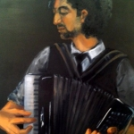 The Player, oil on canvas, 90cm x90cm