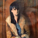 SOLD - The Fur Jacket, oil on canvas