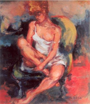 -SOLD - The Dancer Rests 1 , oil on canvas