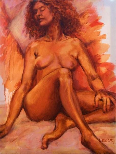 Arthouse Nude, oil on canvas,  60cm x 90cm