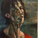 Self,oil on stretched canvas, 40cm x 60cm