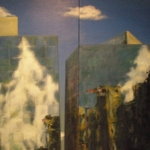 - SOLD - City Skyscape, oil on canvas -SOLD