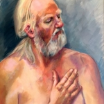 King Lear...more sinned against than sinning, oil on canvas, 65cm x 85cm
