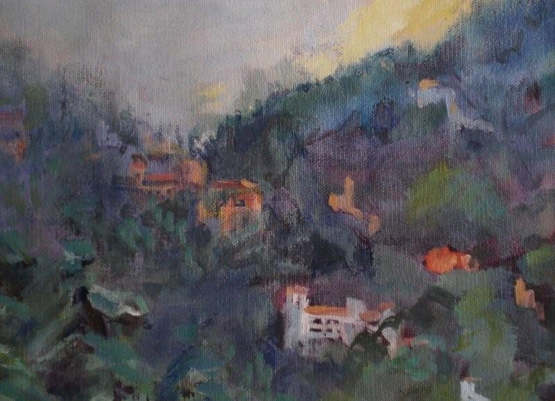 -  SOLD  - Misty Tuscan Morn, oil on canvas
