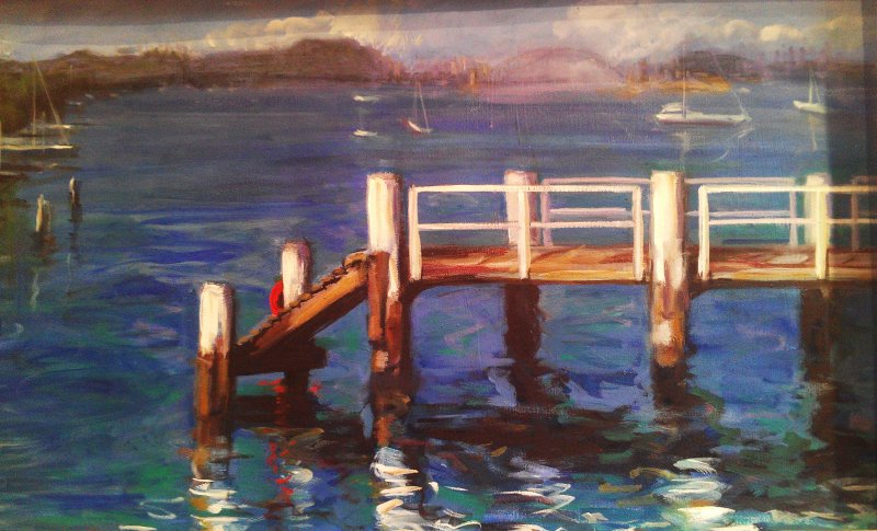 - SOLD - Snails Bay Birchgrove, oil on canvas