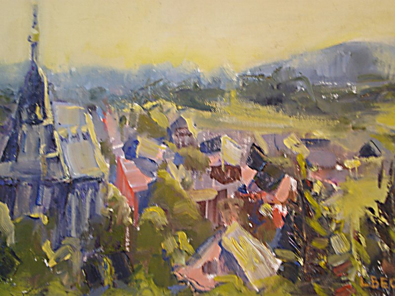 SOLD -Early Morning Tuscany, oil on canvas-