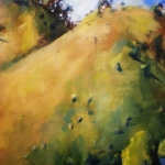 - SOLD - Sofala Hills, oil on paper  Very Highly Commended Hunters Hill Art Prize