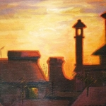 Pirano Sunset, oil on canvas
