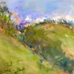 Gloucester Green, oil on canvas, 40cm x 75cm