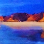 -SOLD- Cape Leveque, WA - oil on canvas - under glass  100cm x 45cm