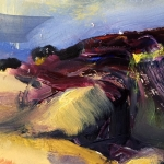 - SOLD -Summer Jindabyne 2, oil, 15cm x 10cm