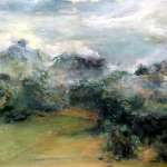 Misty Morning Gloucester, oil, 70cm x 55cm
