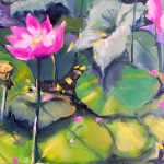 - SOLD - Lotus Noon, oil, 25cm x 30cm