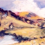 Jindabyne Summer,oil on paper