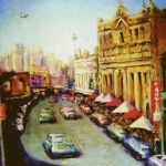 - SOLD - Darling Street  Balmain, oil on canvas