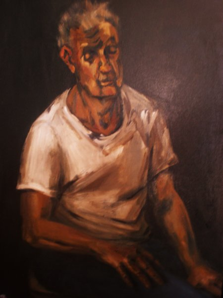 -SOLD - The Worker, oil on canvas, 80cm x 120cm