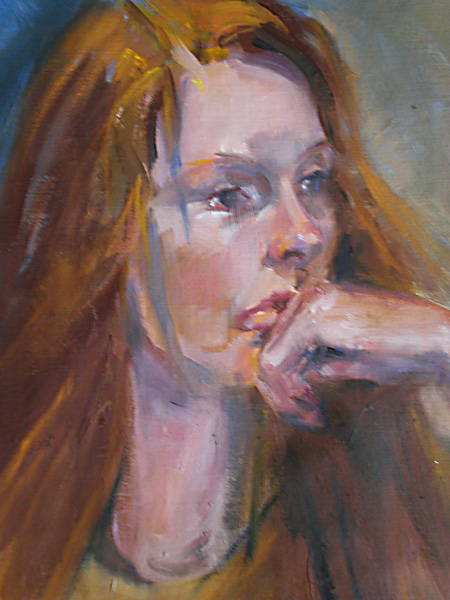- SOLD -Ginger, oil on canvas -SOLD-