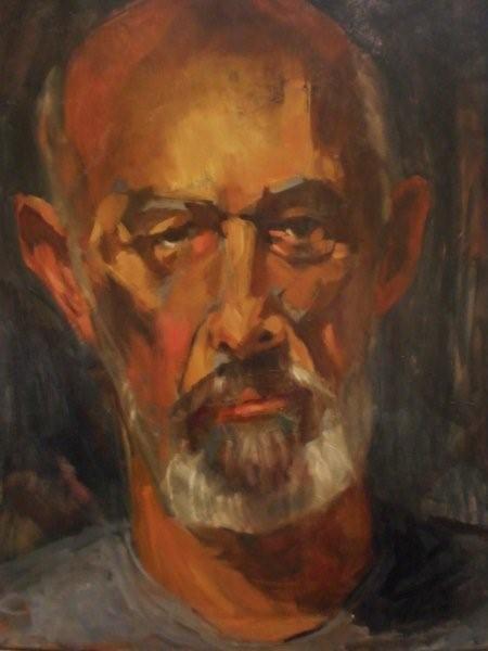 Ollie, oil on canvas