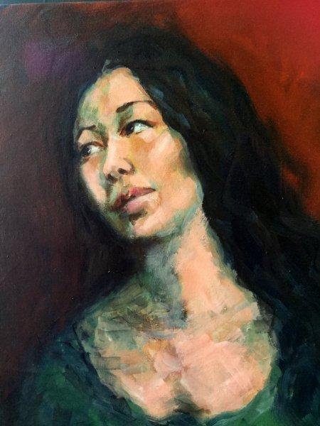 Josephine, oil on canvas, 45cm x 50cm Finalist in the Percival Portrait Prize 2018.