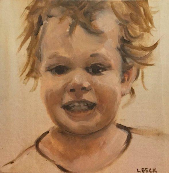 SOLD - Baby boy, 40cm x 50cm,oil on canvas