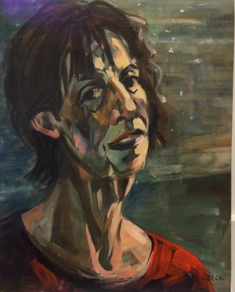 Self oil on canvas, 50cm x 55cm, oil on canvas