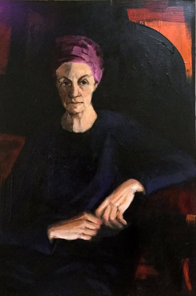 Self Three, oil on canvas, 50cm x 75cm Salon de Refuses Lester Portrait Prize 2019