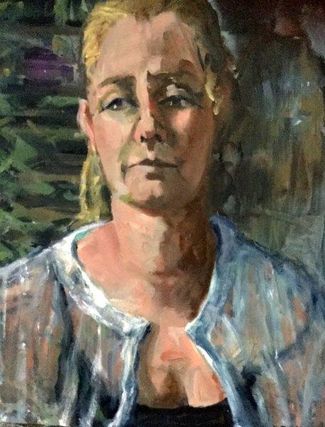 Zoe, oil on canvas, 40cm x45cm