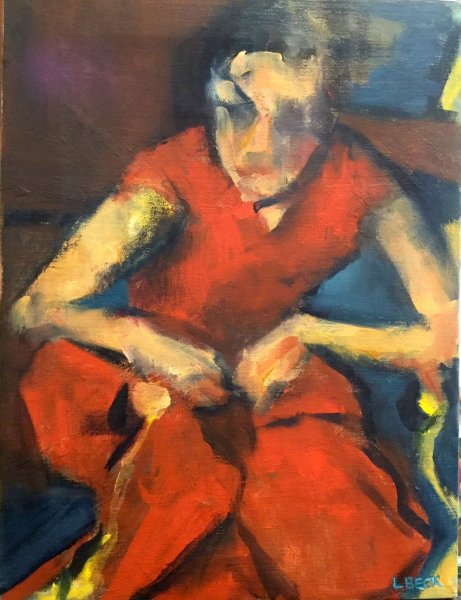 Study in Red, 45cm x 55cm,oil on canvas