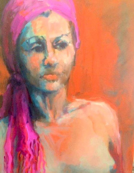 - SOLD - Rita oil on canvas, 20cm x 35cm