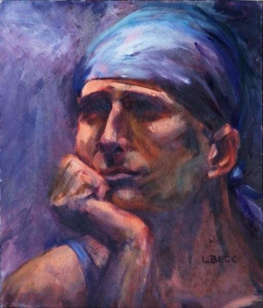 The Worker, oil on canvas