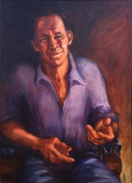 Alan Sommerville - sculptor -  oil on canvas