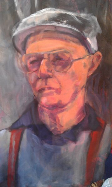 Bruce Sharp - artist and Romantic, oil on canvas