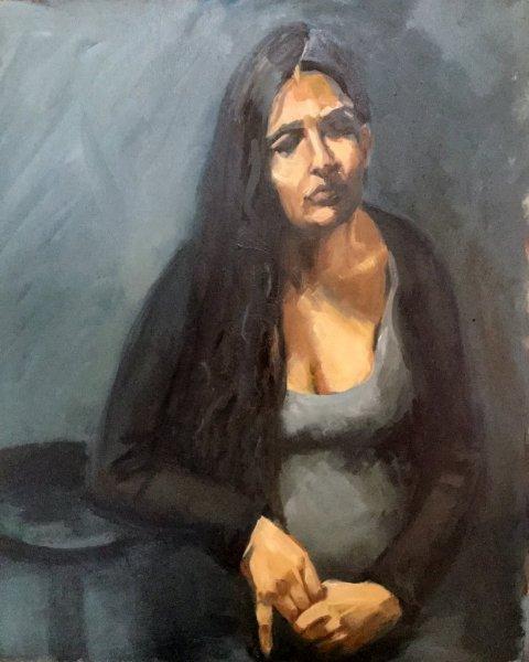 Tatiana\'s Baby, oil on canvas, 50cm x 65cm