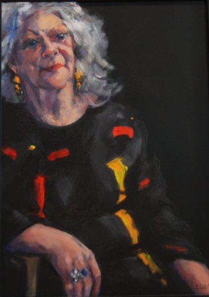 Jill-Mckay, actress - oil on canvas