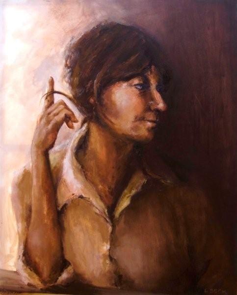 PRIVATE COLLECTION  - Self Portrait, oil on canvas