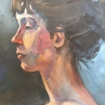 The Swan Neck, oil on canvas, 40cm x50cm, $450