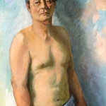 The Karate Master, oil on canvas, 60cm x 80cm