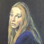 Girl with the Silver Nose Ring, oil on treated board, 50cm x 60cm
