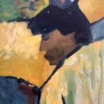 Oriental Profile, oil on canvas, 40cm x 50cm